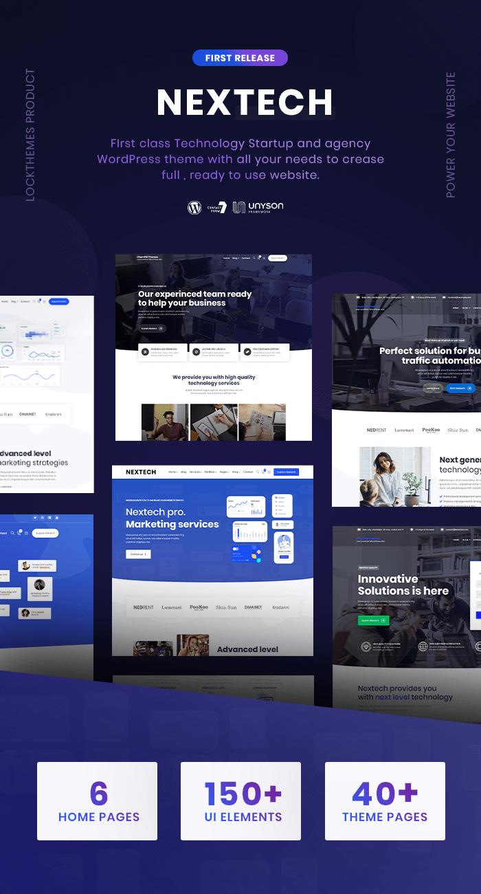 Nextech - IT Startup WordPress theme - 1
