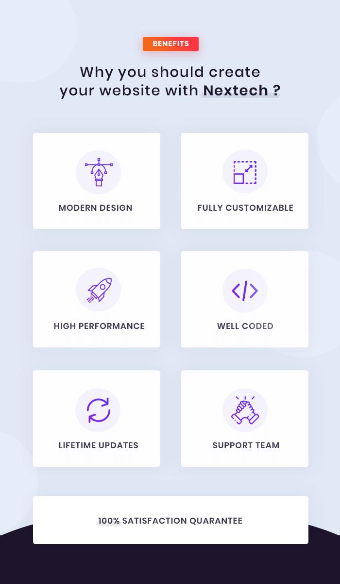 Nextech - IT Startup WordPress theme - 2