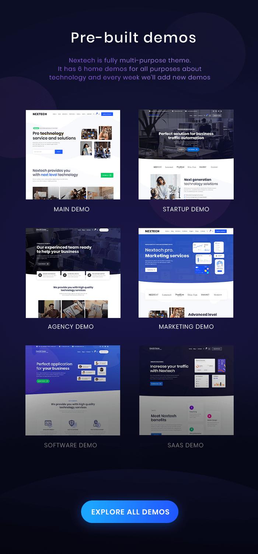 Nextech - IT Startup WordPress theme - 3